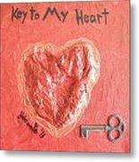 Key To My Heart Metal Print by Jeannie Atwater Jordan Allen