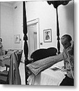 Lady Bird And President Johnson Taking Metal Print by Everett