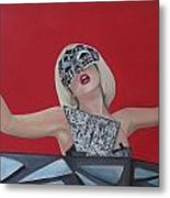 Lady Gaga Poker Face Metal Print by Kristin Wetzel