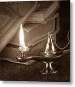 Lamp Of Learning Metal Print