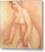 Large Bather Metal Print by Pierre Auguste Renoir