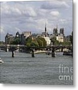 Le Pont Des Arts. Paris. France Metal Print by Bernard Jaubert