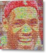 Lebron James Pez Candy Mosaic Metal Print