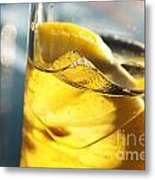 Lemon Drink Metal Print by Carlos Caetano