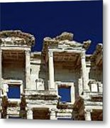 Library Of Celsus In Ephesus Metal Print by Sally Weigand