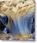 Light Reflected On Water Flowing Metal Print