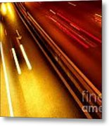 Light Trails Metal Print