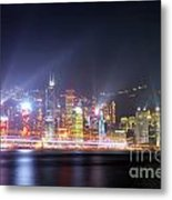 Lighting Up The Harbor Metal Print