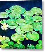 Lily Pads And Lotus Metal Print