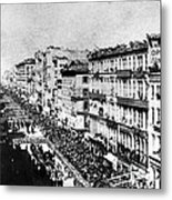 Lincolns Funeral Procession, 1865 Metal Print by Photo Researchers