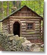 Little Cabin On Little River Metal Print by Charles Warren