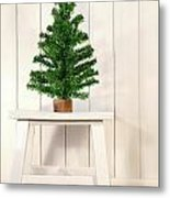 Little Green Fir Tree Metal Print by Sandra Cunningham