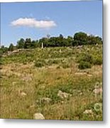 Little Round Top From Devils Den Metal Print by David Bearden