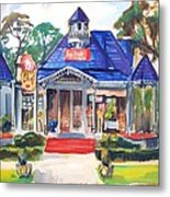 Little Town Flower Shop Metal Print