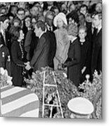 Lyndon Johnson Funeral. President Nixon Metal Print by Everett