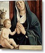Madonna And Child - Late 15th To Early 16th Century  Metal Print by Giovanni Battista Cima da Conegliano