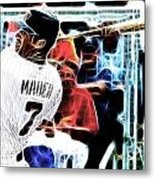 Magical Joe Mauer Metal Print