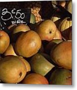 Mangoes And Melons Priced In Euros Metal Print by David Evans