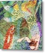 Mermaid And Fish Metal Print by Nicole Besack