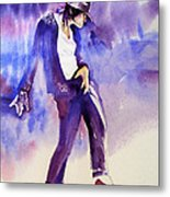 Michael Jackson - Not My Lover Metal Print by Hitomi Osanai
