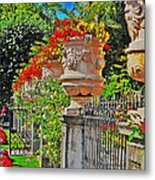 Mirabell Gardens In Salzburg Hdr Metal Print by Mary Machare