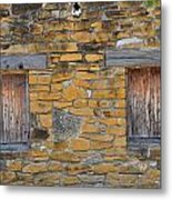 Mission Dwelling Windows Metal Print by Peter  McIntosh