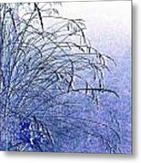 Misty Blue Metal Print