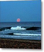 Moonrise Rexham Beach Metal Print
