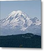 Mt. Rainier Seen From The Yakima Valley Metal Print