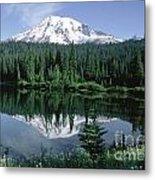 Mt. Ranier Reflection Metal Print