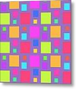 Multicoloured Squares Metal Print by Louisa Knight
