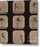Muybridge Locomotion Of Man Jumping Metal Print by Photo Researchers