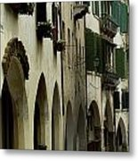 Narrow Road Lined By Shuttered Windows Metal Print by Todd Gipstein