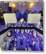 Nasa Astronauts And Industry Experts Metal Print by Everett