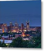 Nashville Cityscape 7 Metal Print