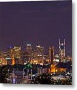 Nashville Cityscape 9 Metal Print by Douglas Barnett