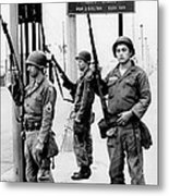 National Guardsmen At A Los Angeles Metal Print by Everett