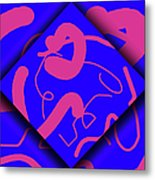 Neon Out Of Bounds Metal Print by Carolyn Marshall
