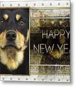 New Year - Golden Elegance Australian Kelpie Metal Print by Renae Laughner