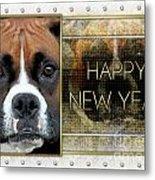 New Year - Golden Elegance Boxer Metal Print