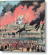 New York Crystal Palace Fire, 1858 Metal Print by Photo Researchers