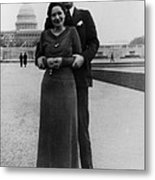 Newlywed Lyndon And Lady Bird Johnson Metal Print by Everett