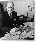 Norman Vincent Peale Was An American Metal Print by Everett