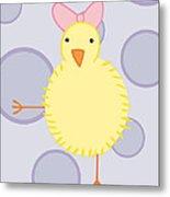 Nursery Art Baby Bird Metal Print