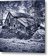 Old Barn Metal Print by Donald Schwartz