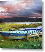 Old Row Boats Metal Print