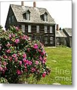 Olson House With Flowers Metal Print