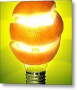 Orange Lamp Metal Print