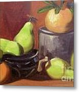 Orange Pears Metal Print by Lilibeth Andre