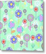 Overlayer Flowers  Metal Print